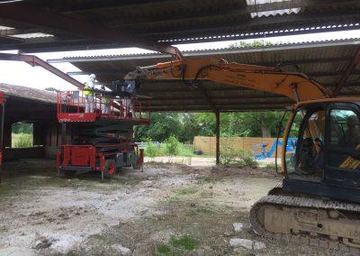 Agricultural Barn Roof Demolition